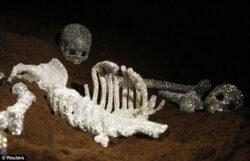 Nicola Bolla verziert Knochen mit Swarovski Kristallen
