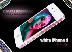 iPhone 4 Chic Edition in weiss von Goldstriker