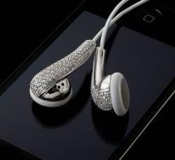 Amosu Couture Swarovski Apple Kopfhörer