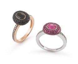 Al Coro Ringe mit Diamanten und Farbsteinen