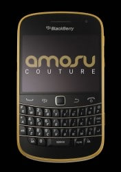 Amosu Couture 24 Karat Gold Blackberry 9900
