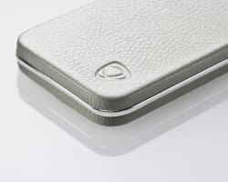 exklusive Handyhülle CalypsoCase mit Leder und Silber