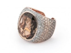 Al Coro Ring Dolce Vita Smoky Quarz