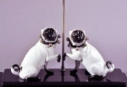 Mopslampe aus der Peter Nebengaus Collection