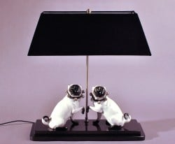 Mopslampe aus der Peter Nebengaus Collection