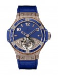 Hublot Tutti Frutti Tourbillon Pave for Ladies Dunkelblau