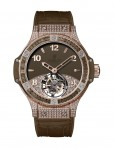 Hublot Tutti Frutti Tourbillon Pave for Ladies Kastanienbraun