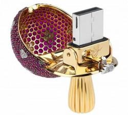 Magic Mushroom USB-Stick mit Edelsteinen