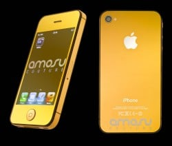 Apple iPhone 4S von Amosu Couture ganz in Gold