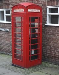 60 britische K6 Telefonzellen zu verkaufen