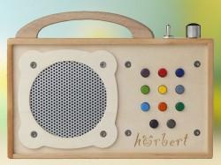 hörbert - tragbarer mp3-Player aus Holz für Kinder