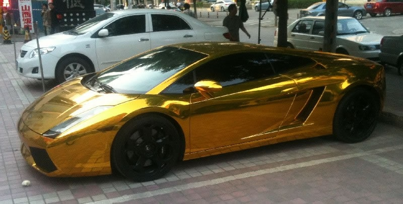lamborghini gallardo in gold aus china richtigteuerde