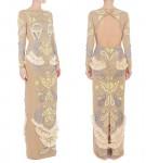Matthew Williamson Cutwork Ikat Embroidery Column Gown
