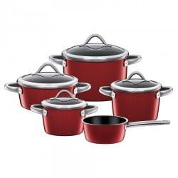 Küchengeräte der Marke Silit - Silit - Topf-Set 5tlg. Vitaliano Rosso