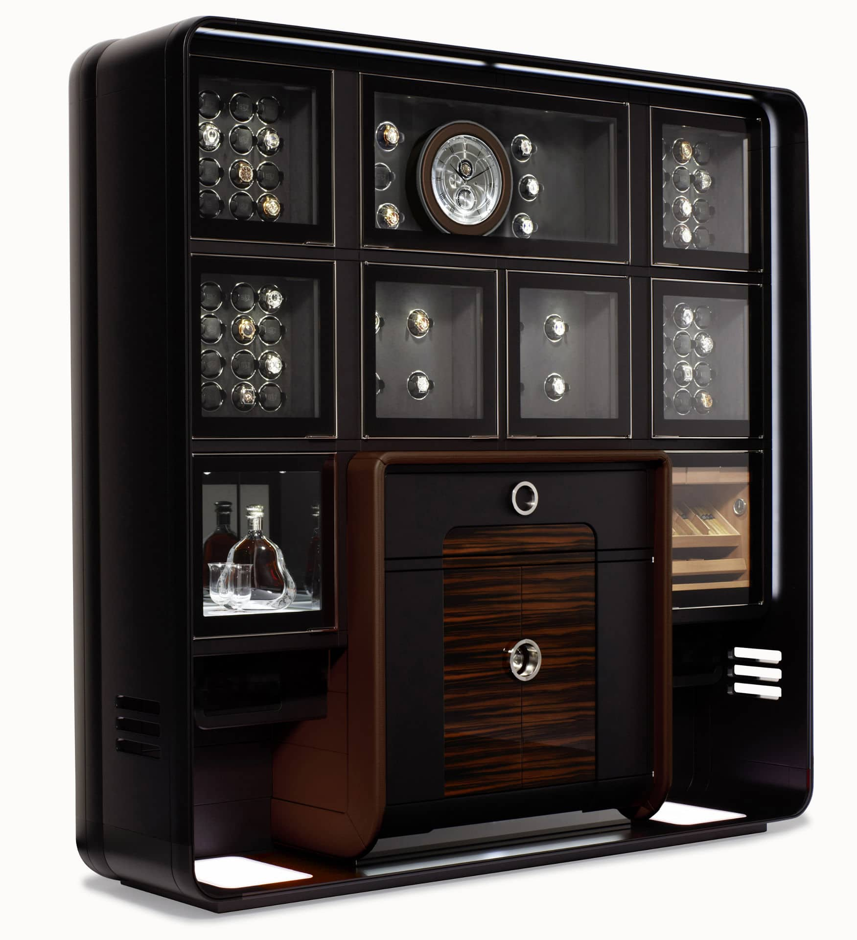 the treasury exklusive schatzkammer zur aufbewahrung von uhren. Black Bedroom Furniture Sets. Home Design Ideas