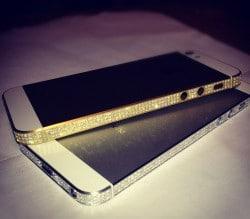 Diamant iPhone 5 in Weissgold oder Gelbgold von Amosu Luxury