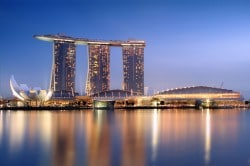 Marina Bay Sands Kasino und Hotel in Singapur (Bildquelle: wikipedia by Someformofhuman)