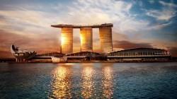 Marina Bay Sands Kasino und Hotel in Singapur