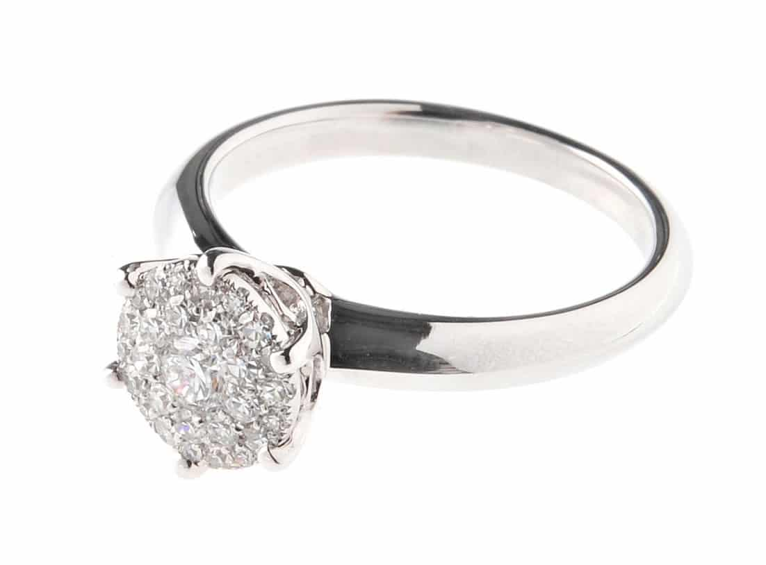 Klassischer Diamant Ring F 252 R Den Heiratsantrag