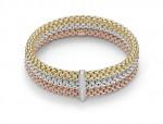 Fope Gioielli präsentiert Bicolor-Armbänder aus Rosé- und Weißgold