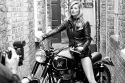 Kate Moss wird das neue Gesicht der Motorrad-Marke Matchless