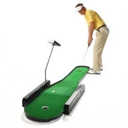 Indoor Golftraining trotz Eis und Schnee mit Putting Challenge