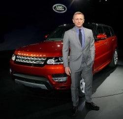 Daniel Craig präsentiert den neuen Range Rover Sport