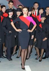 Miranda Kerr präsentiert die neue Uniform von Quantas