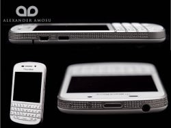 Amosu Blackberry Q10 mit Diamanten