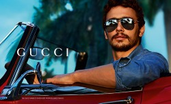 James Franco modelt für Gucci
