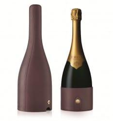Krug en Voyage by Moynat - Lederetui für die Champagnerflasche