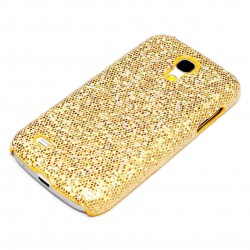Samsung Galaxy S4 Mini Case Glitzer Gold Handy