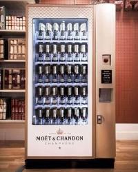 Der erste Champagnerautomat von Moet & Chandon