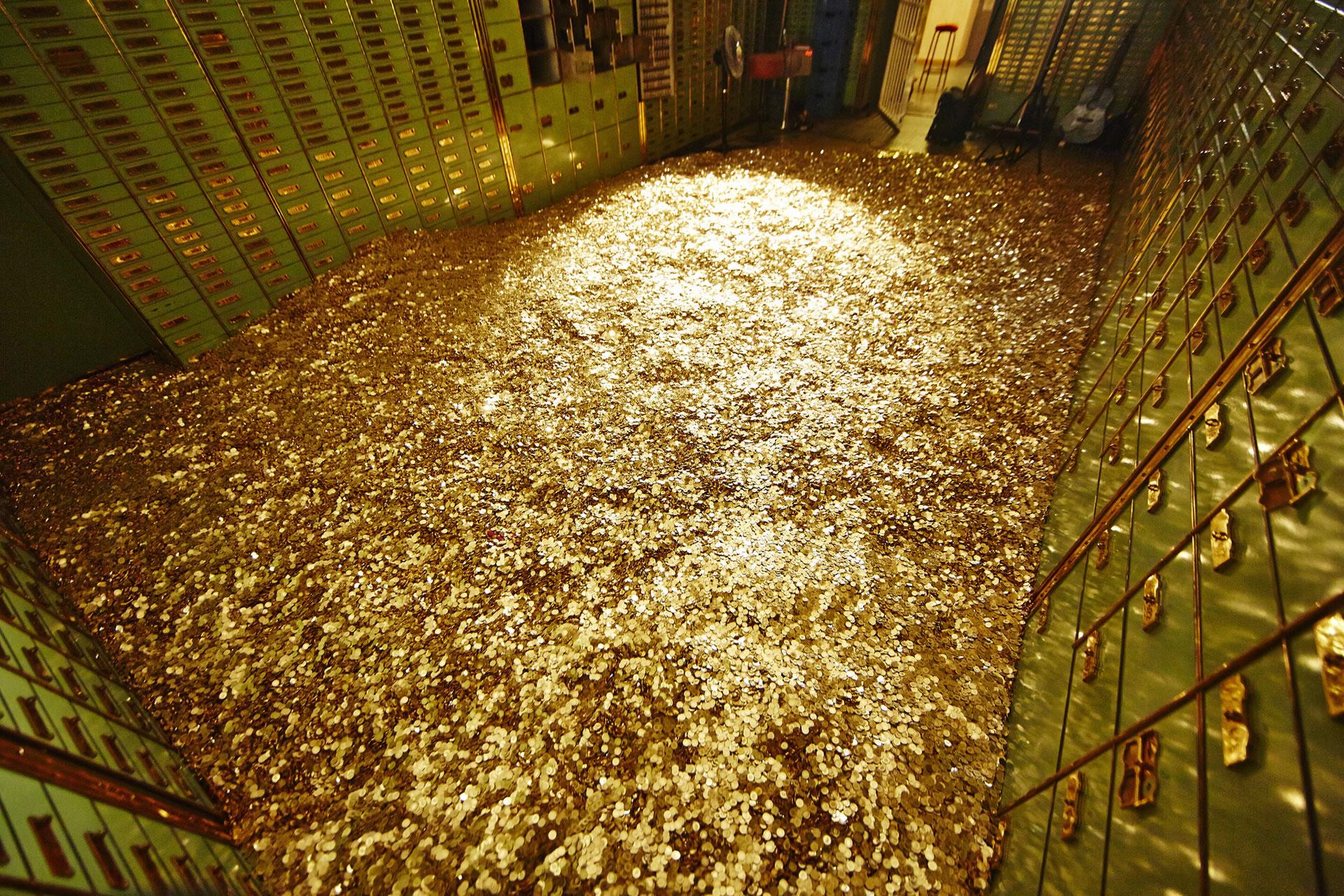 Einmal im Leben in Geld baden, im eigenen Tresorraum