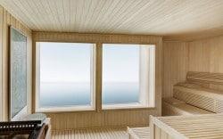 Sauna mit Meerblick im wohl exklusivsten Hotel der Welt