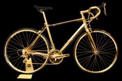 Goldgenie Rennrad aus 24-karätigem Gold