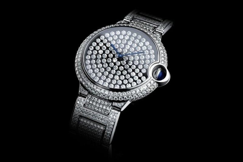 Cartier Prasentiert Die Diamantenbesetzte Serti Vibrant Uhr