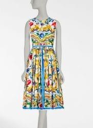 Ansicht eines Kleides aus der Majolika-Kollektion