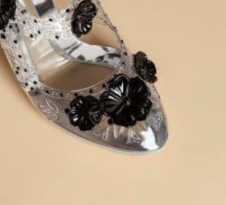 Luxus-Schuhe im transparenten Design