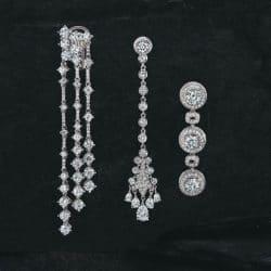 Drei Paar Ohrringe aus der Kollektion von Black Starr und Frost