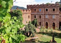 Eine Burg aus dem Mittelalter am Rhein