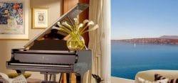 Ein Steinway-Flügel gehört zum Interieur der teuerstens Sute des Luxushotels President Wilson.