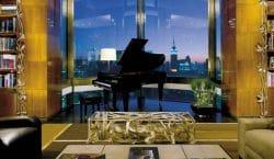 Flügel vor Skyline: die Luxussuite im Four Seasons