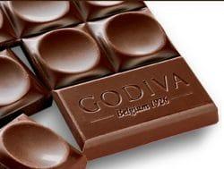 Schokoladenstückchen der belgischen Edel-Schokolade Godiva