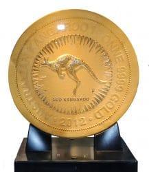 Teuerste Goldmünze der Welt - nach seinem Goldwert gerechnet – 1 Tonne reines Gold - etwa 35.000.000 €