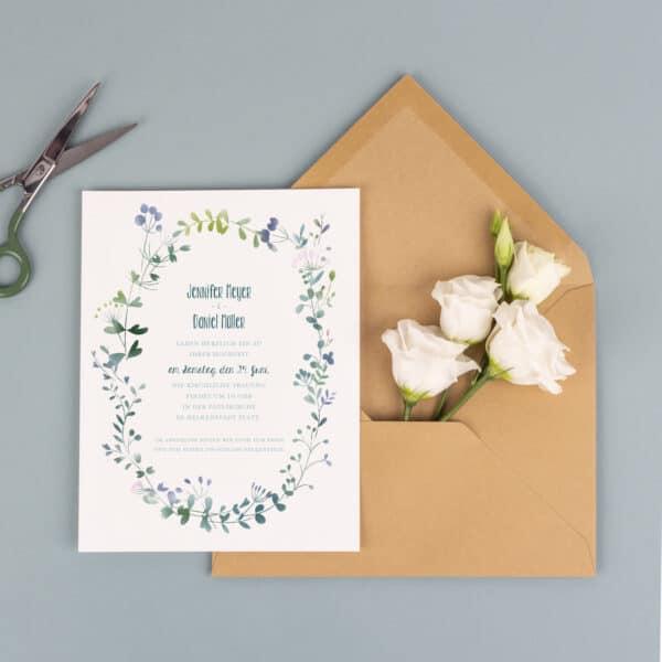 Hochzeitseinladungen in klassischem Design