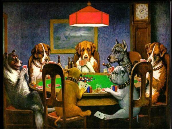 Die Hunde am Pokertisch sind weltberühmt